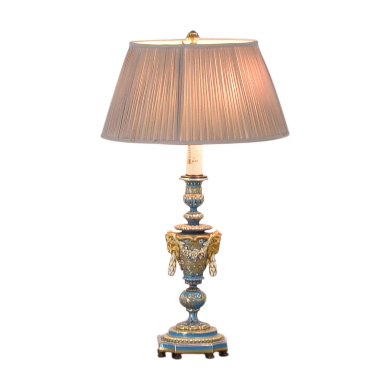 Sevres Bleu Celeste Porcelain Lamp used