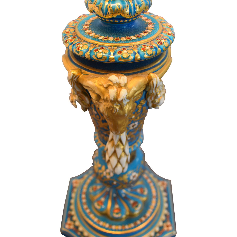 shop Sevres Bleu Celeste Porcelain Lamp  Lamps