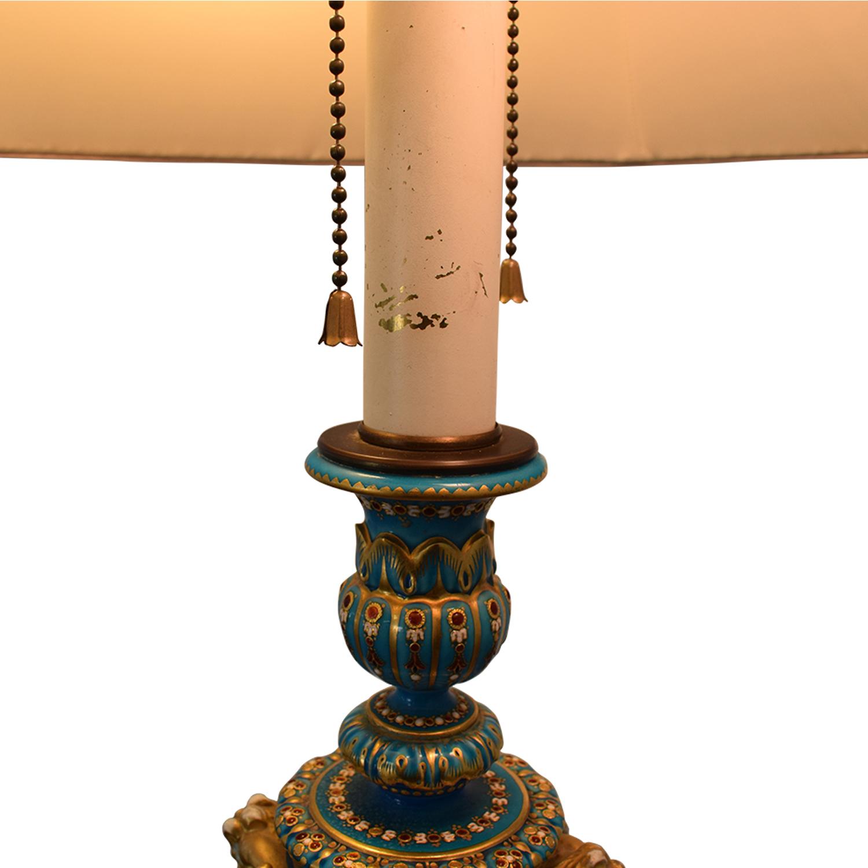 Sevres Bleu Celeste Porcelain Lamp coupon