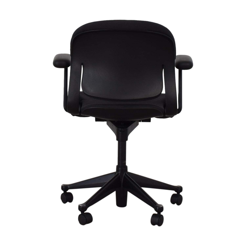 Black Office Chair on Castors discount