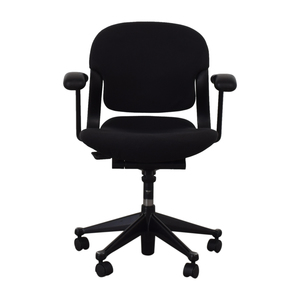 Black Office Chair on Castors second hand