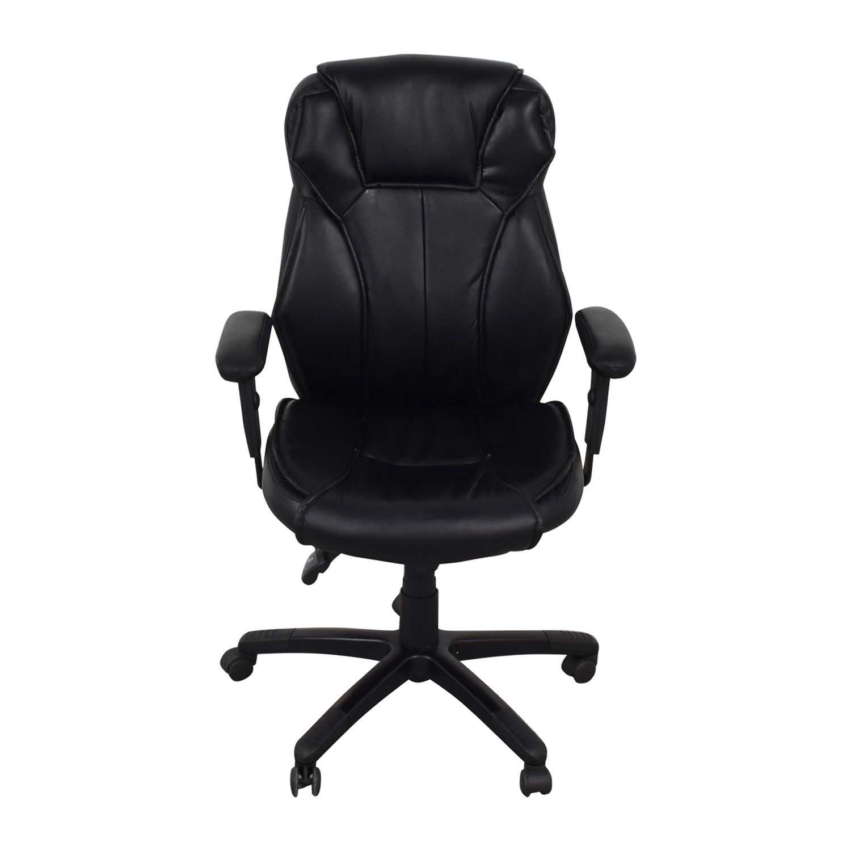Black Office Arm Chair dimensions