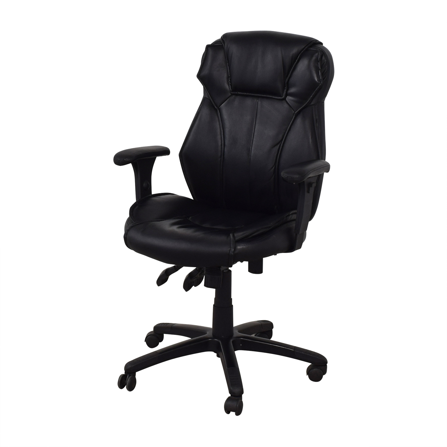 68 Off Black Office Arm Chair Chairs