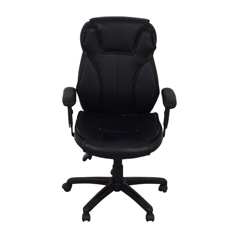 Black Office Arm Chair on Castors for sale