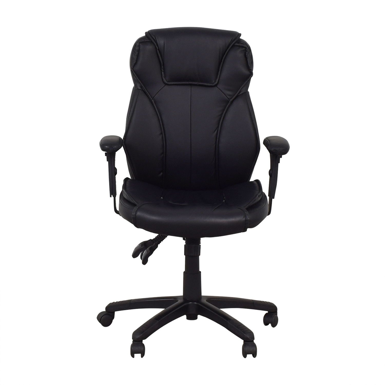 Black Office Arm Chair on Castors sale