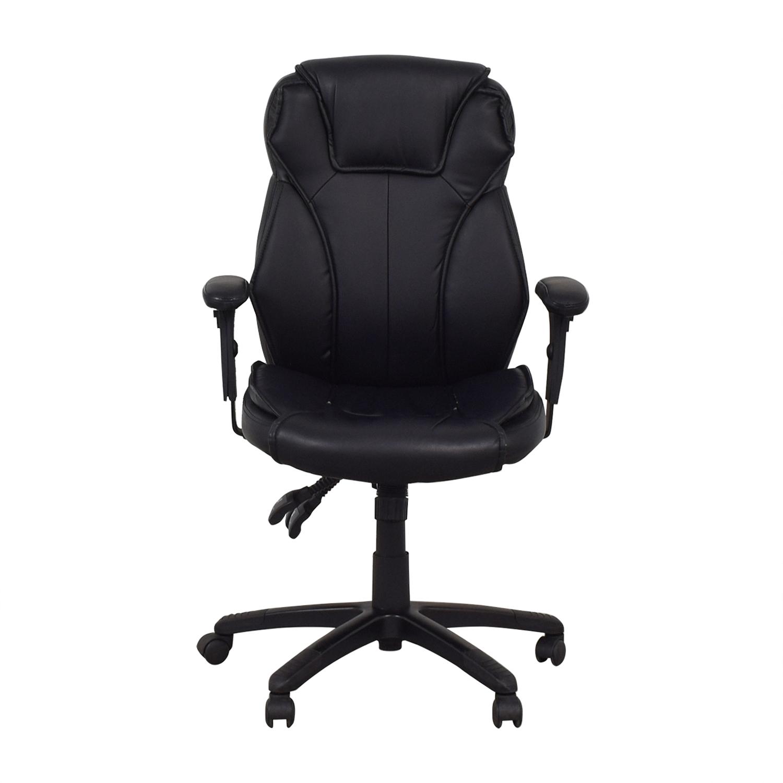 Black Office Arm Chair on Castors sale