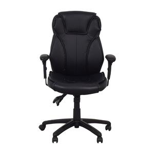 Black Office Arm Chair on Castors
