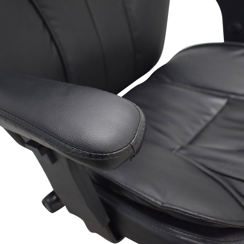 Black Office Arm Chair on Castors nj