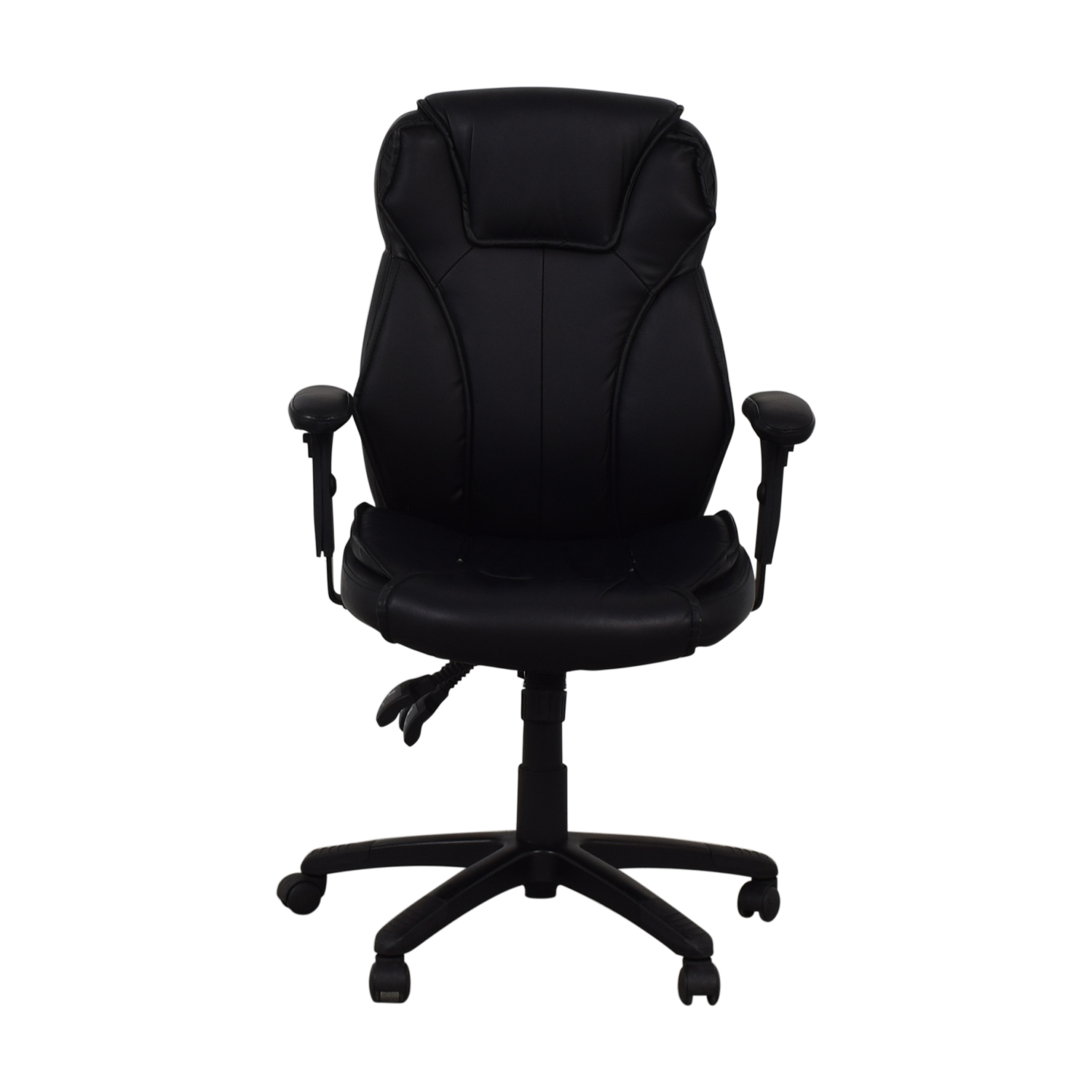 buy Black Office Arm Chair on Castors