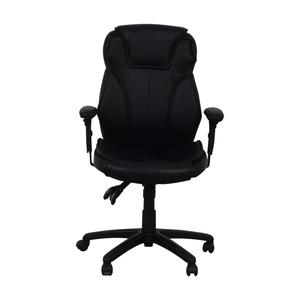 Black Office Arm Chair on Castors on sale