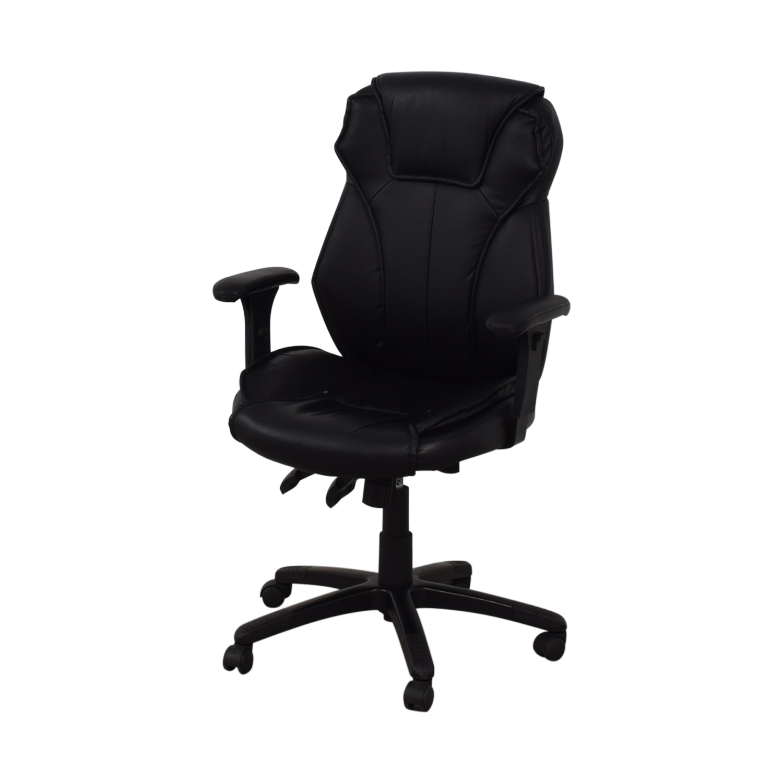 buy Black Office Arm Chair on Castors
