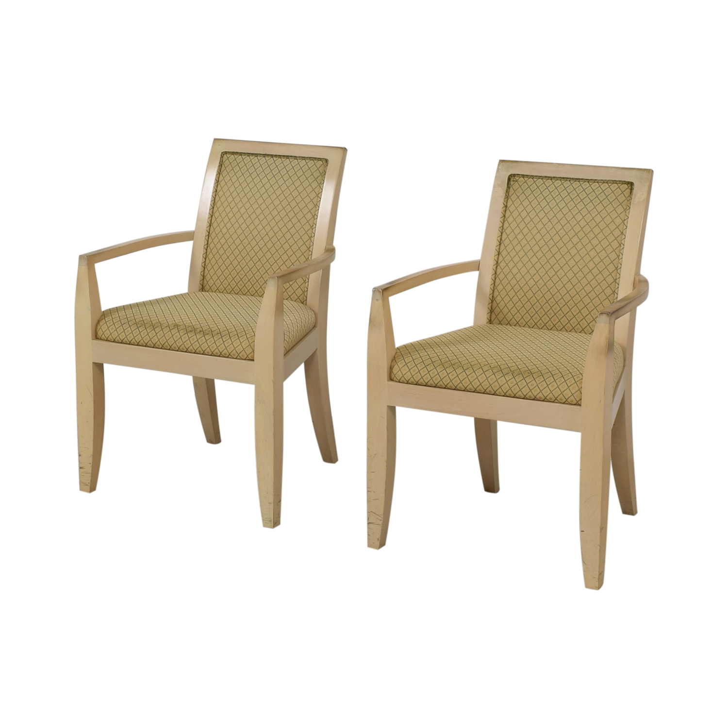 Todd Hase Todd Hase Beige Upholstered Accent Chairs dimensions