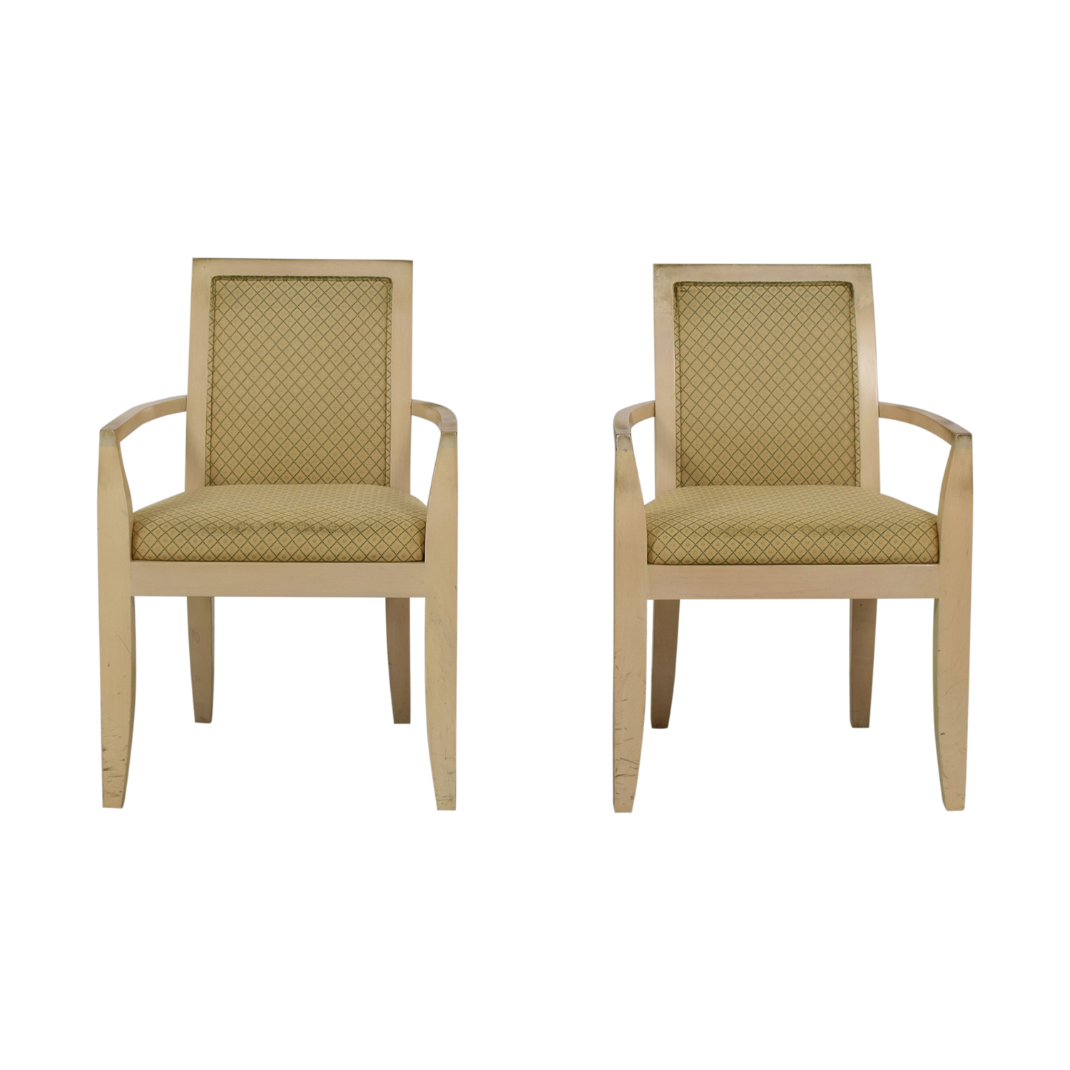 Todd Hase Todd Hase Beige Upholstered Accent Chairs nyc