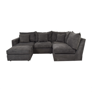 Room & Board Room & Board Orson Grey L-Shaped Sectional with Ottoman second hand