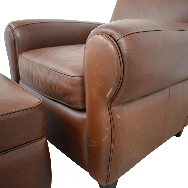 buy Ballard Designs Paris Cognac Chair and Ottoman Ballard Designs Chairs