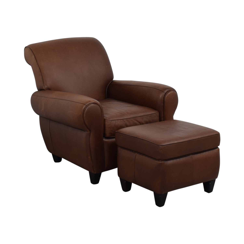 buy Ballard Designs Paris Cognac Chair and Ottoman Ballard Designs Accent Chairs