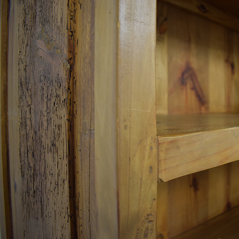 buy Pine Two-Drawer Bookshelf  Bookcases & Shelving