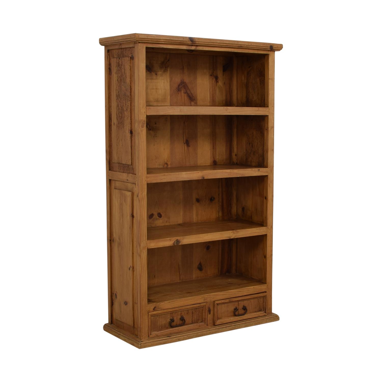Pine Two-Drawer Bookshelf used
