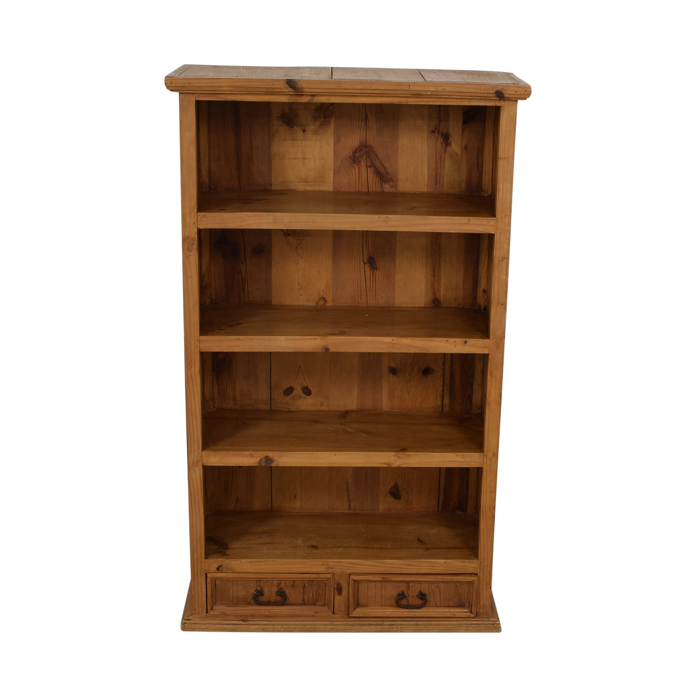 Pine Two-Drawer Bookshelf / Storage