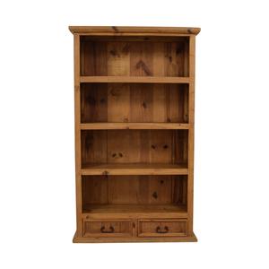 Pine Two-Drawer Bookshelf