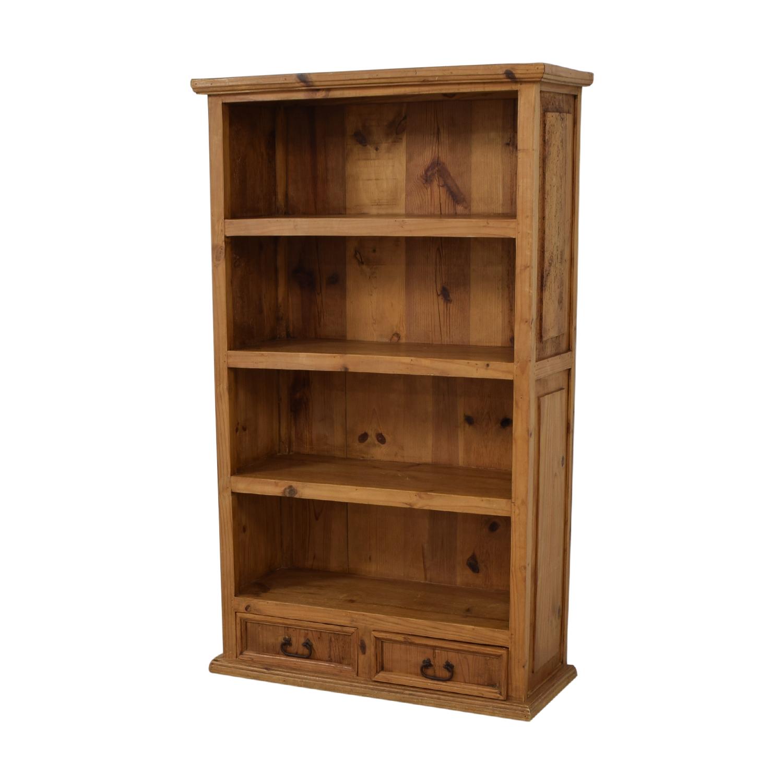 Pine Two-Drawer Bookshelf Bookcases & Shelving
