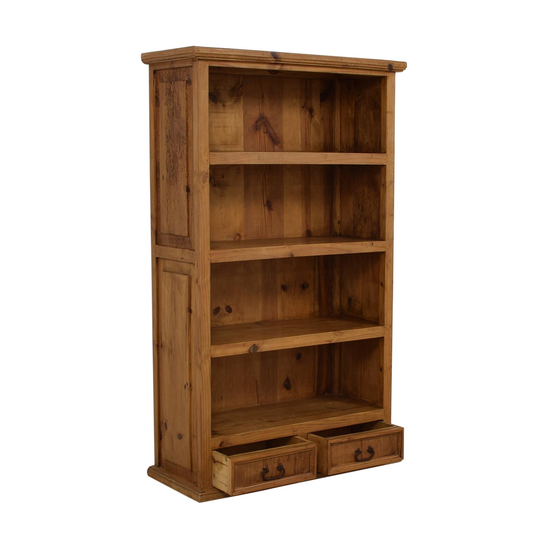 Pine Two-Drawer Bookshelf on sale