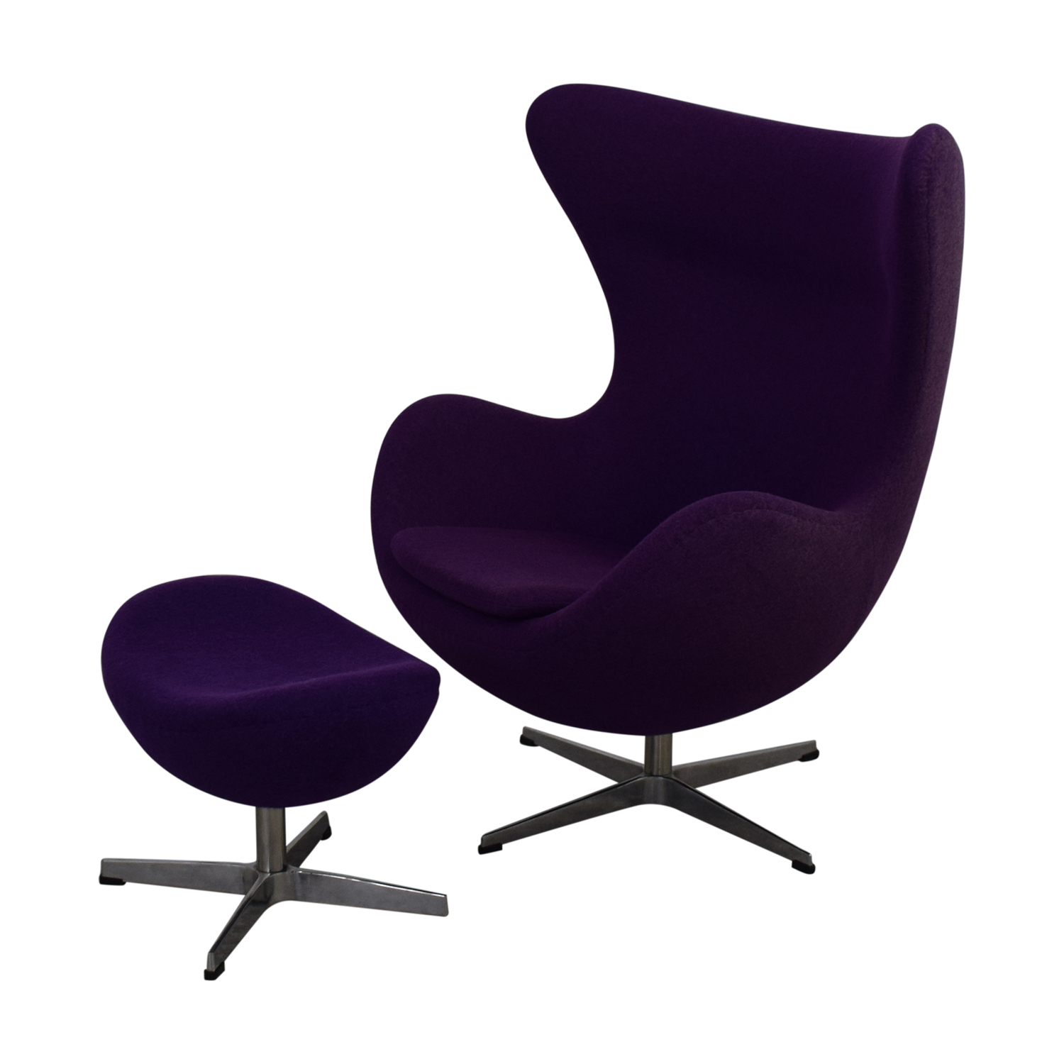 Stupendous 82 Off Orren Ellis Orren Ellis Deniela Purple Swivel Balloon Chair And Ottoman Chairs Gamerscity Chair Design For Home Gamerscityorg