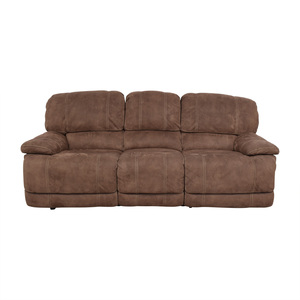 Macy's Three- Seater Power Reclining Sofa sale