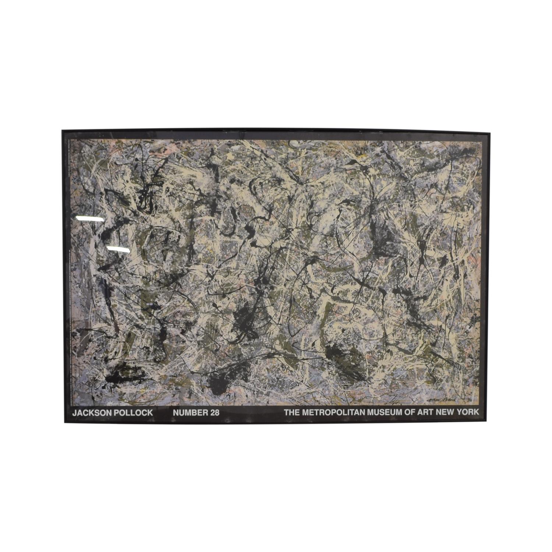 Jackson Pollock Print black