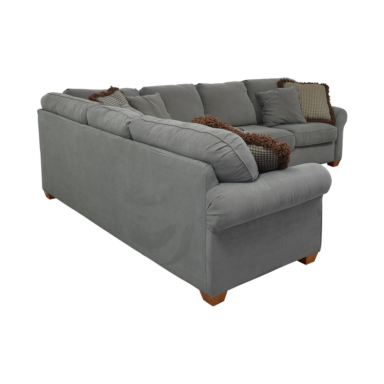 buy Sleephaven By Flexsteel Three-Piece Sectional Flexsteel Sofas