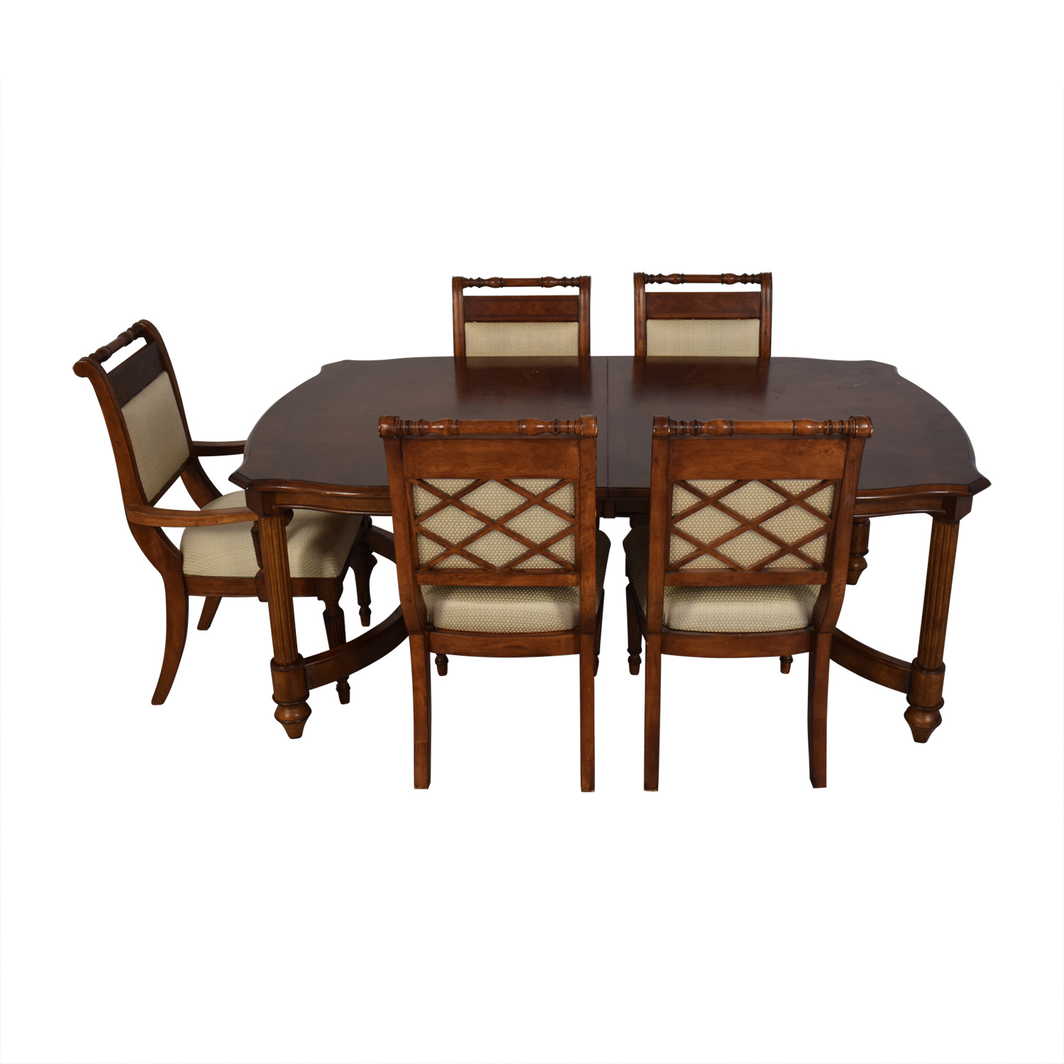 Vintage Upholstered Dining Set