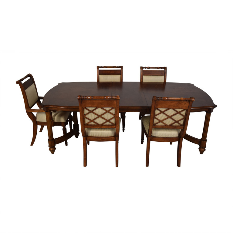 Vintage Upholstered Dining Set on sale