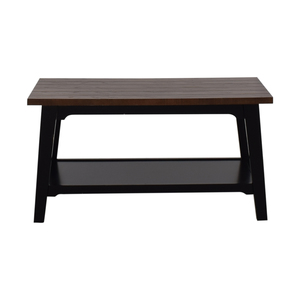 Bed Bath & Beyond Bed Bath & Beyond Brown Wood Coffee Table nyc