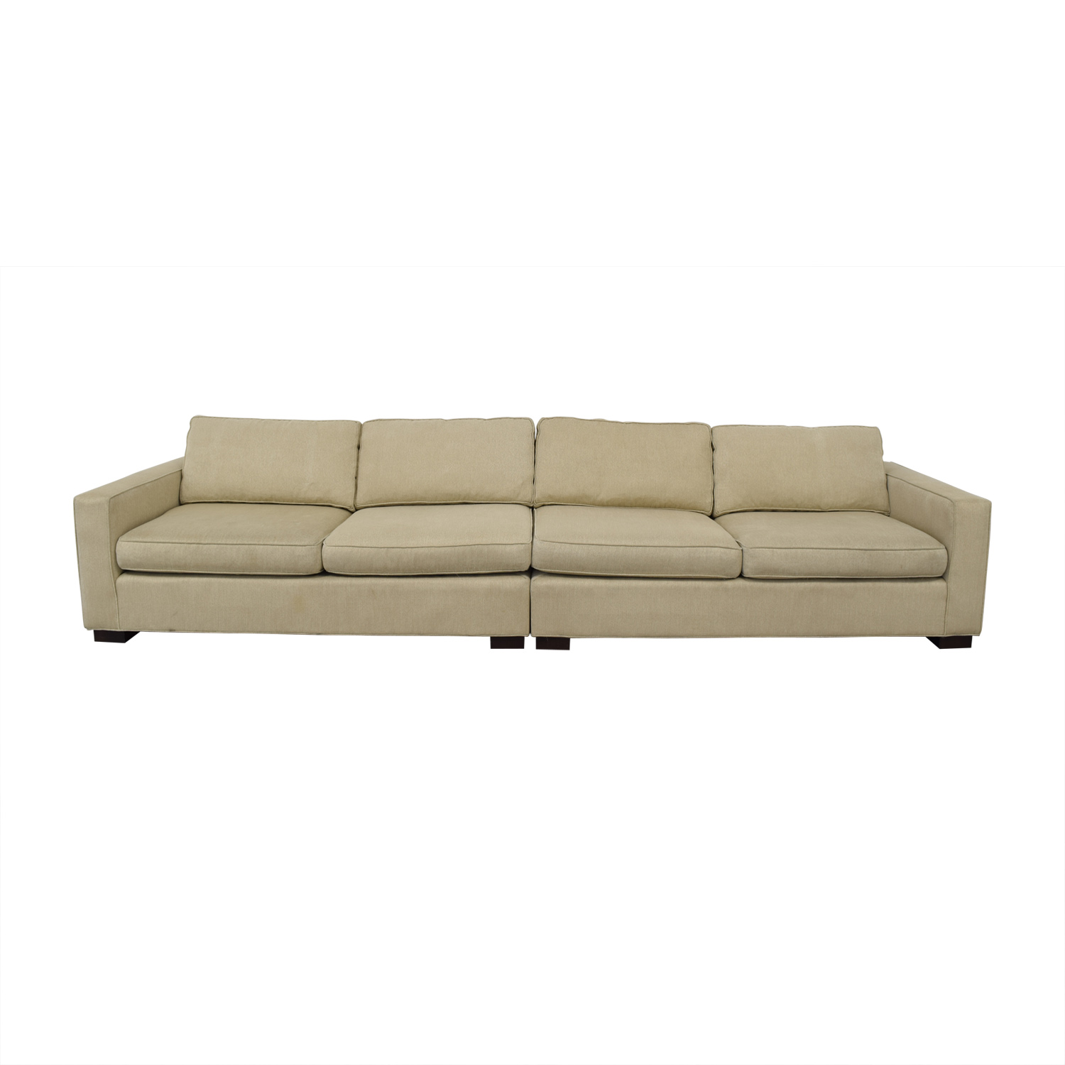 Mitchell Gold + Bob Williams Mitchell Gold + Bob Williams Carson Beige Four-Cushion Sofa nj