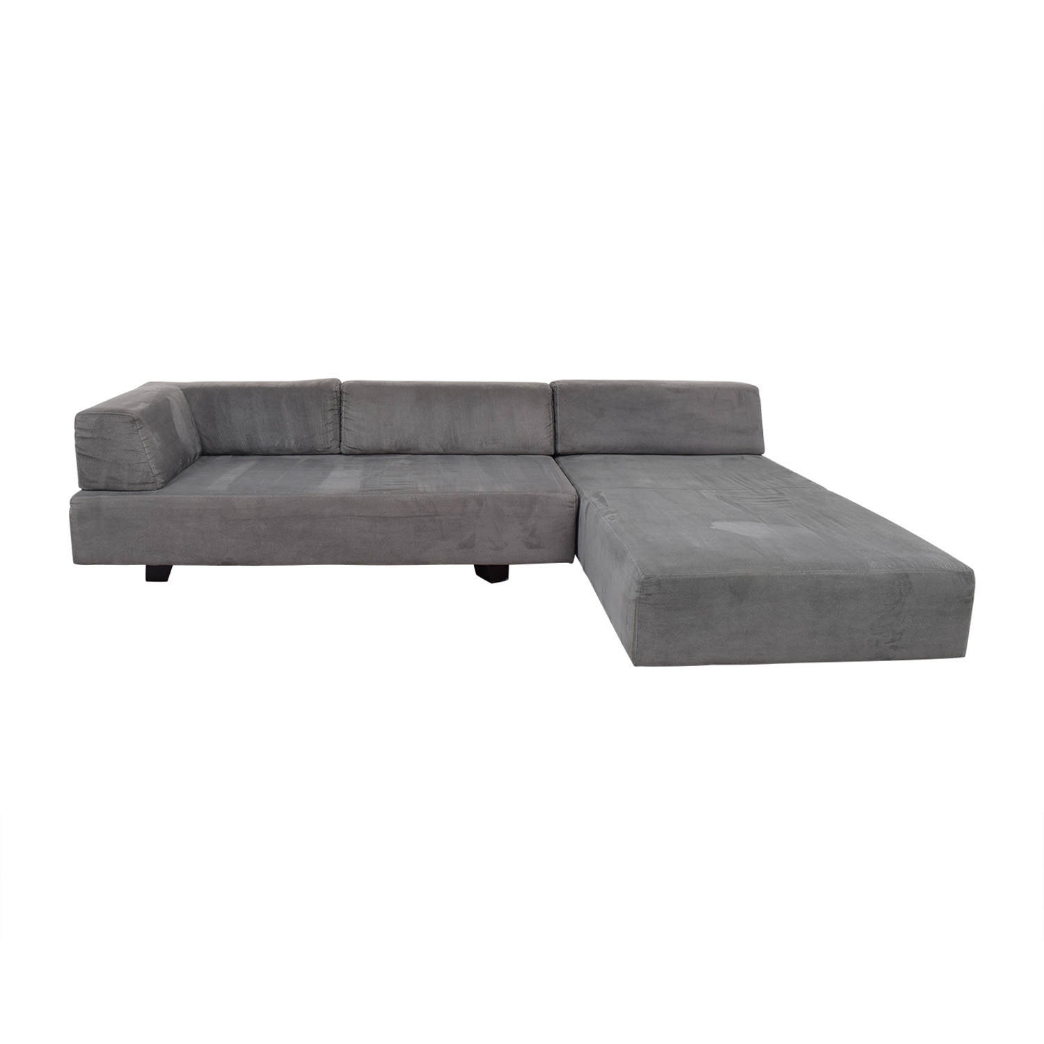 buy West Elm Tillary Grey Chaise Sectional West Elm Sofas
