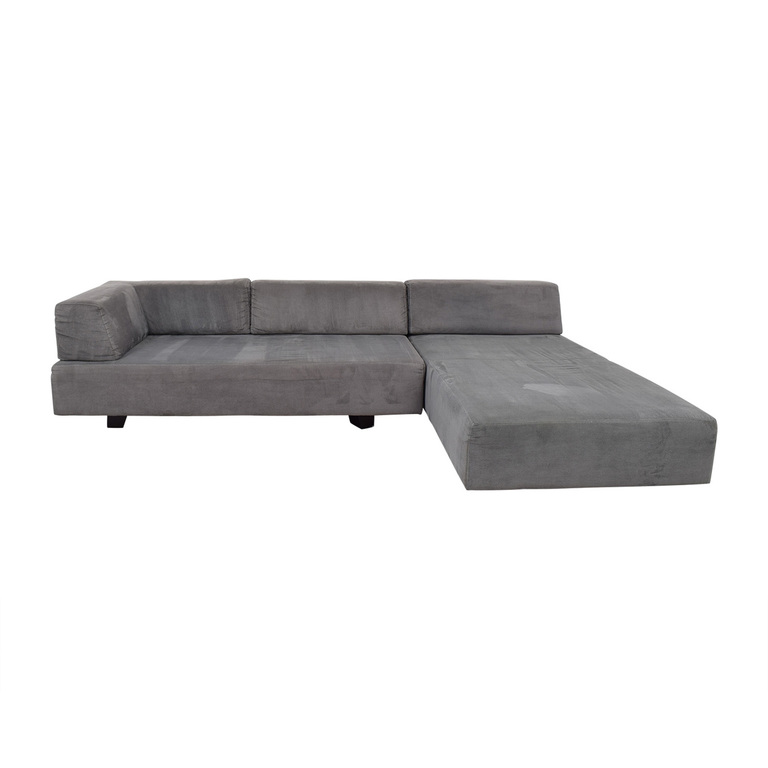 West Elm Tillary Grey Chaise Sectional sale