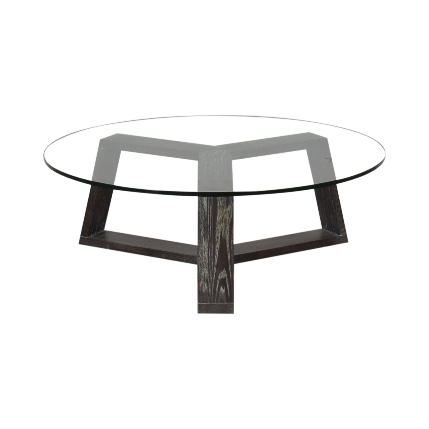 West Elm West Elm Round Glass Coffee Table dimensions