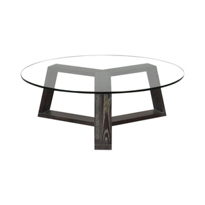 West Elm West Elm Round Glass Coffee Table