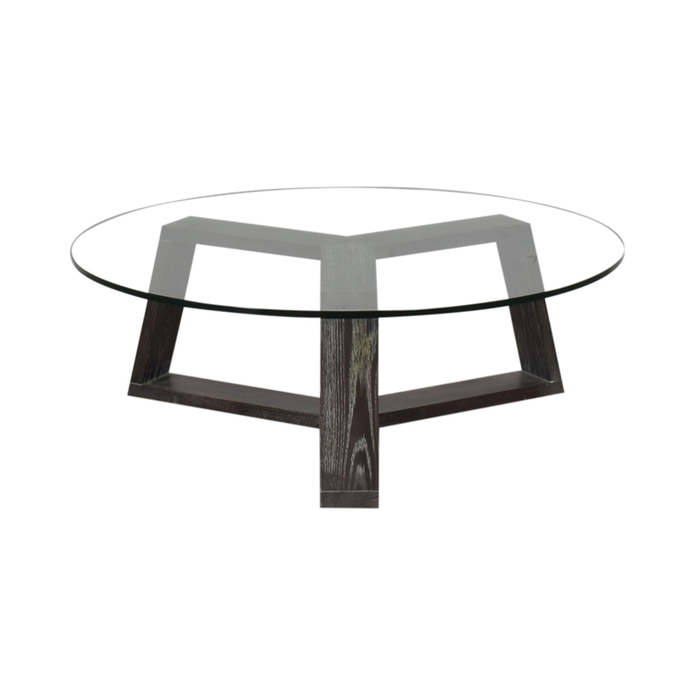 buy West Elm Round Glass Coffee Table West Elm