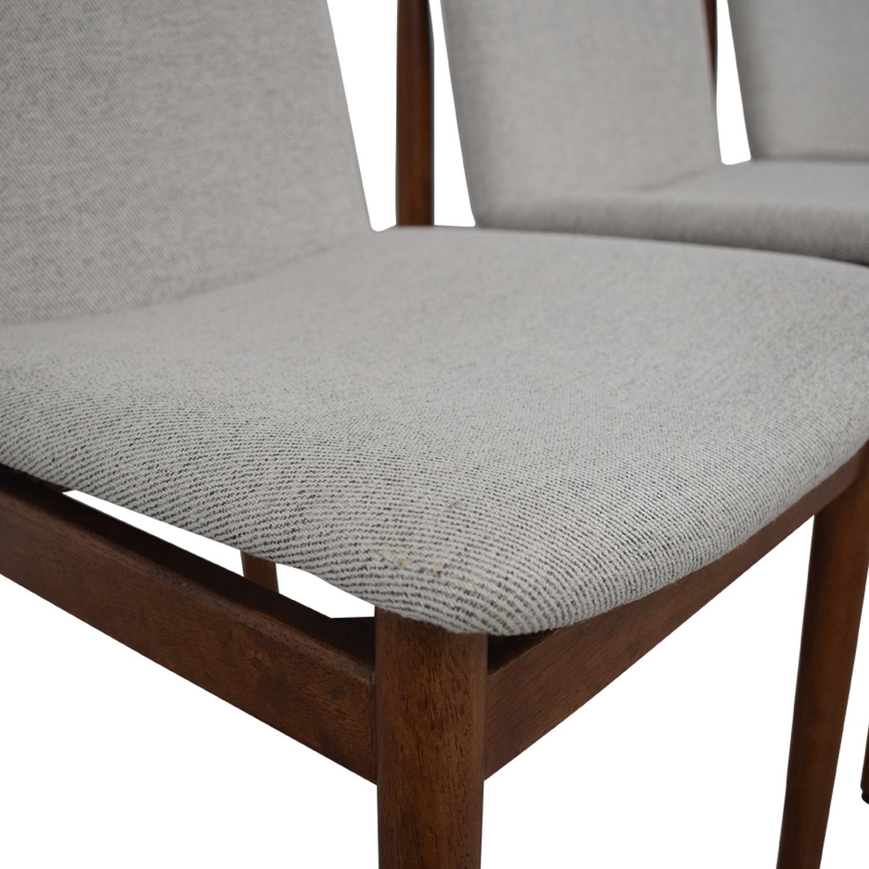 55 Off West Elm West Elm Grey Framework Upholstered
