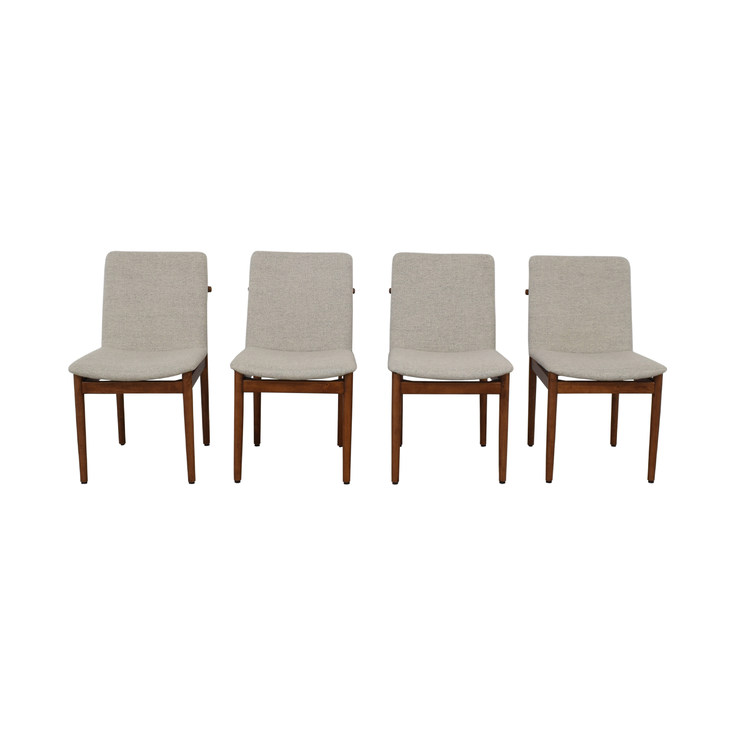 55% OFF   West Elm West Elm Grey Framework Upholstered Dining Chairs /  Chairs