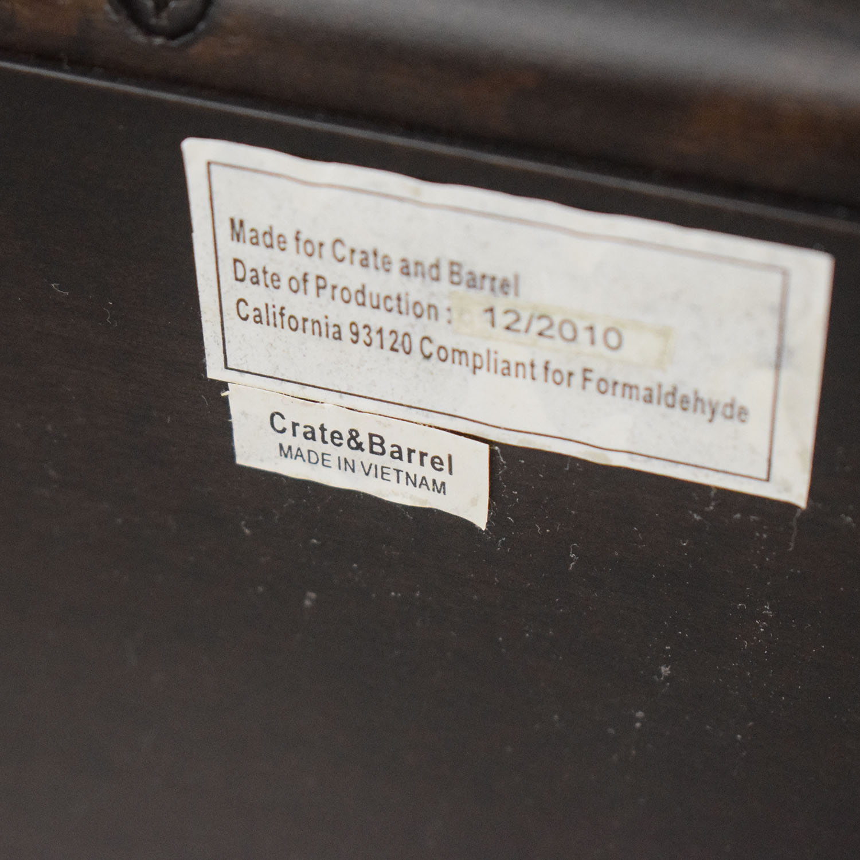shop Crate & Barrel Wood and Fabric Queen Bed Crate & Barrel Bed Frames