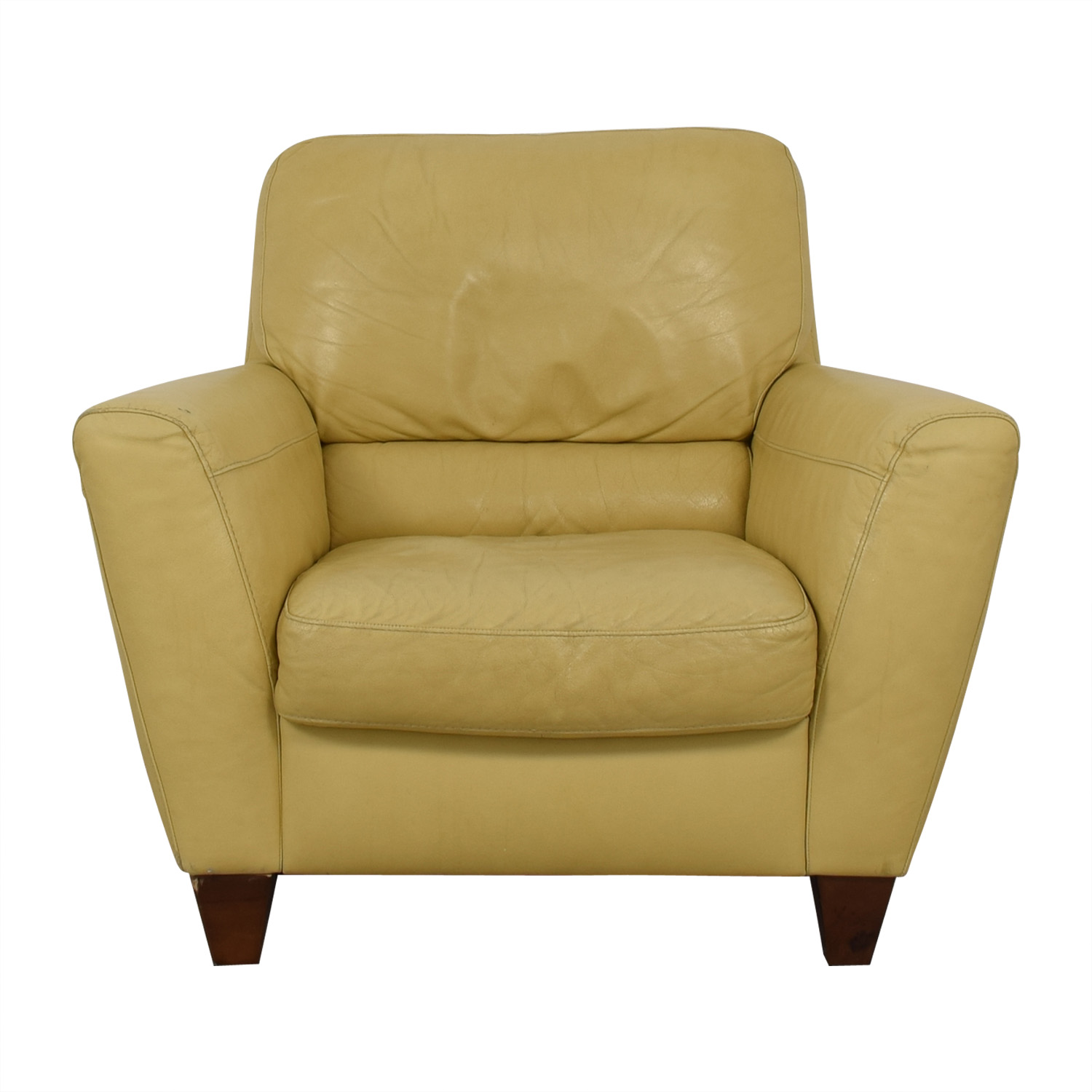 Natuzzi Natuzzi Yellow Accent Chair discount