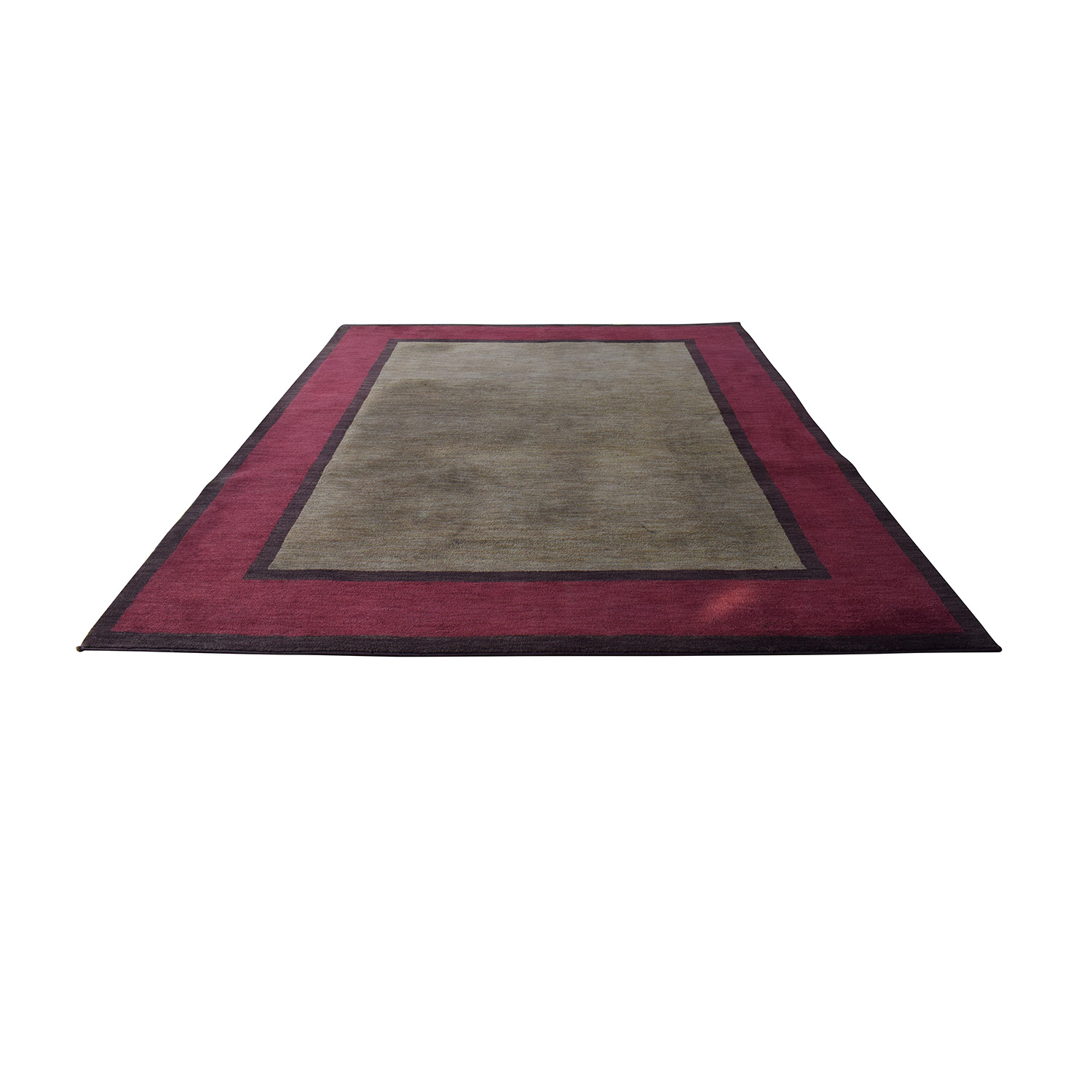 Red Tan and Black Rug Rugs