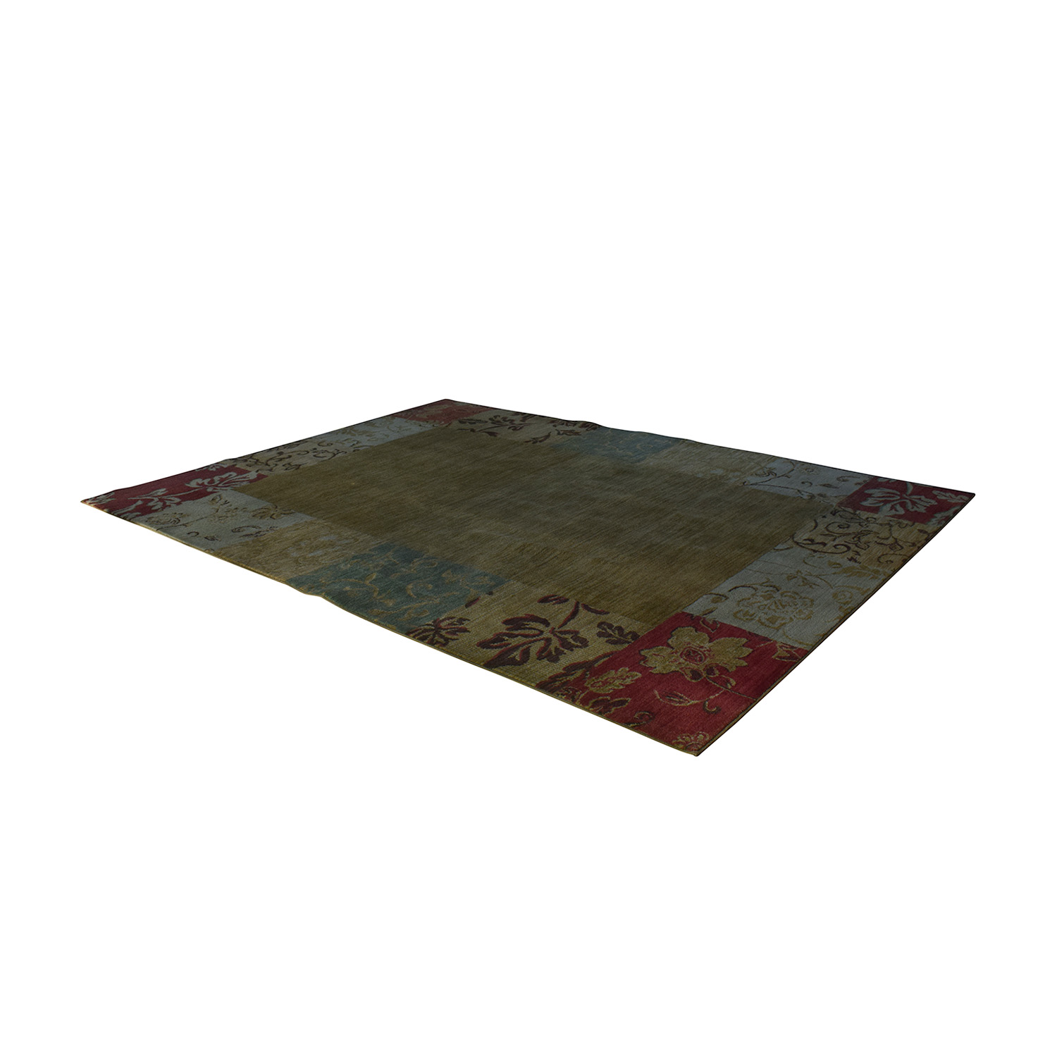Multi-Colored Floral Rug Rugs