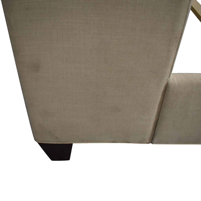 buy Stanford Furniture Kristin Creme Linen Upholstered Queen Bed Frame Stanford Furniture Bed Frames