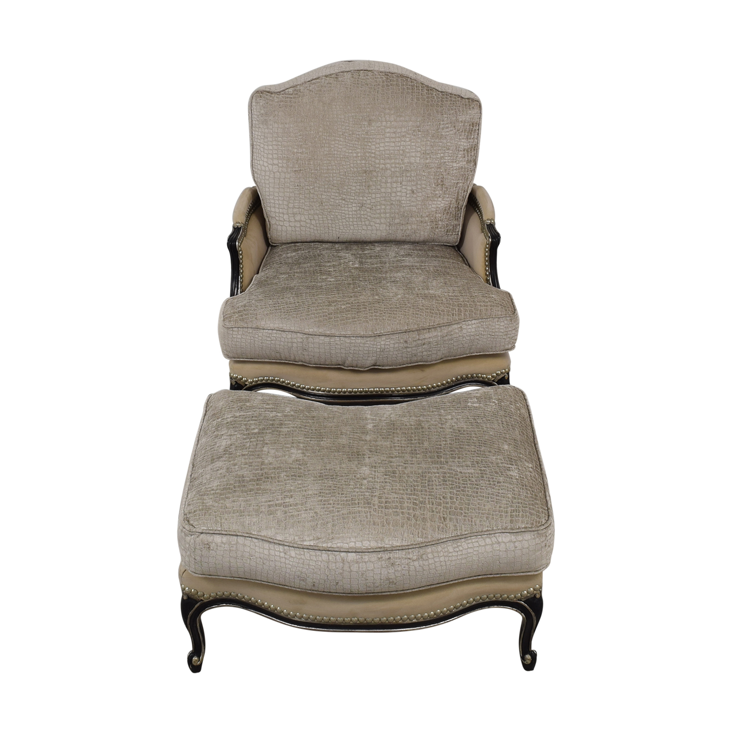 shop Century Furniture Custom Bergere Chair With Ottoman Century Furniture Chairs