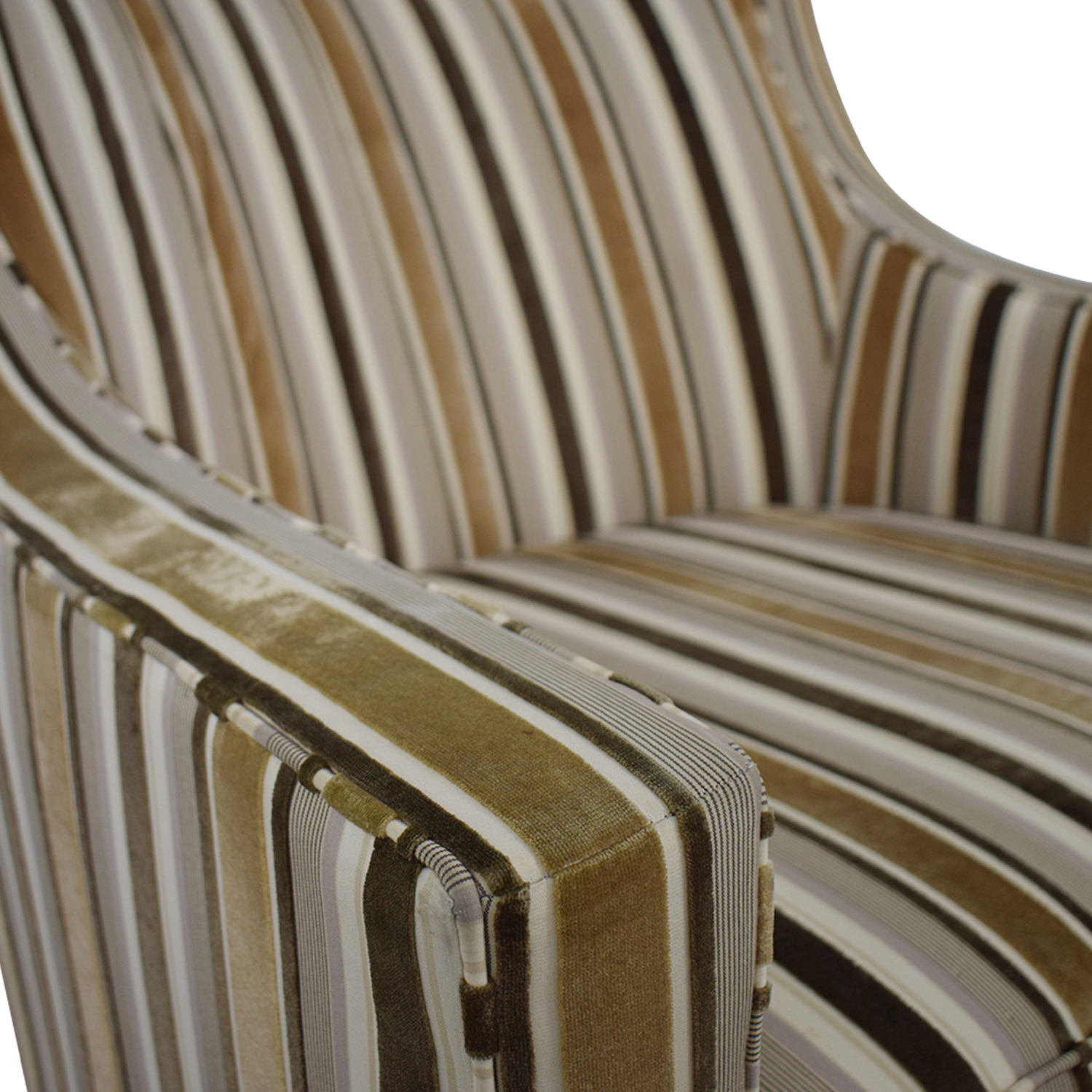 buy Robert Allen Beige and Brown Striped Accent Chair and Ottoman Robert Allen
