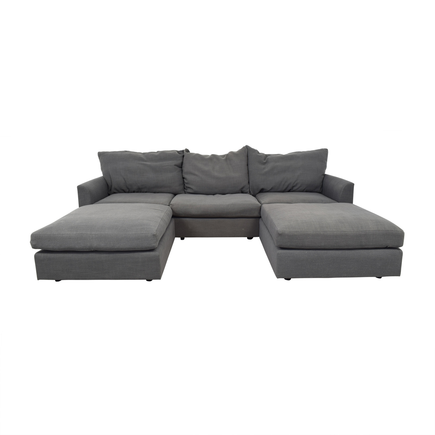 Mitchell Gold + Bob Williams Mitchell Gold + Bob Williams Big Easy Modular Sectional with Ottomans dimensions