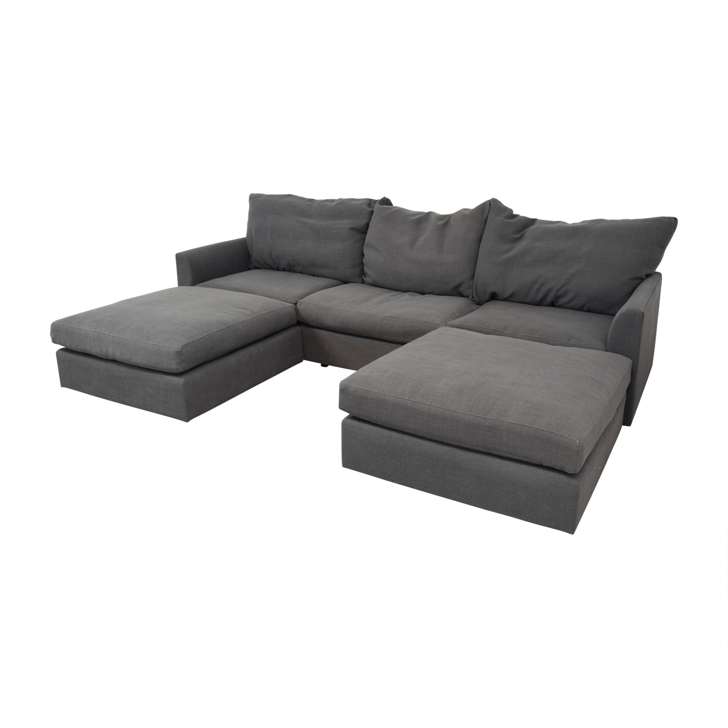 buy Mitchell Gold + Bob Williams Big Easy Modular Sectional with Ottomans Mitchell Gold + Bob Williams Sectionals